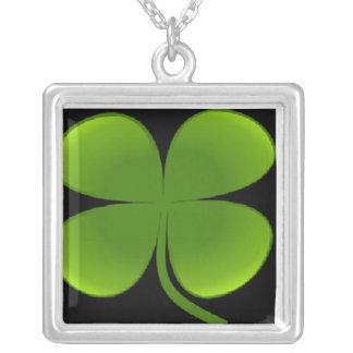 Irish Square Pendant Necklace