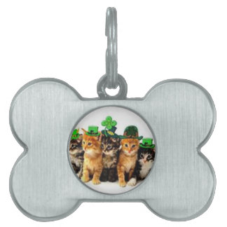 Irish St. Paddy Cats Gifts for Him and Her Pet Tags