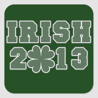 Irish St Patricks Day 2013 Square Sticker