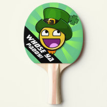 Irish St. Patrick's Day Awesome Face Meme Ping-Pong Paddle