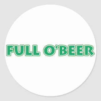 Irish St. Patrick's Day Beer T-shirts & Gear Classic Round Sticker