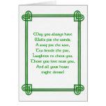Irish St. Patrick's Day card with Celtic design