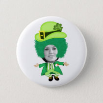 Irish St Patricks Day Jig, Photo Framed Head Button