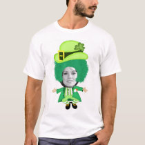 Irish St Patricks Day Jig, Photo Framed Head T-Shirt