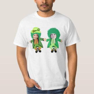 Irish St Patricks Day Jig, Photo Framed Heads Tee Shirt