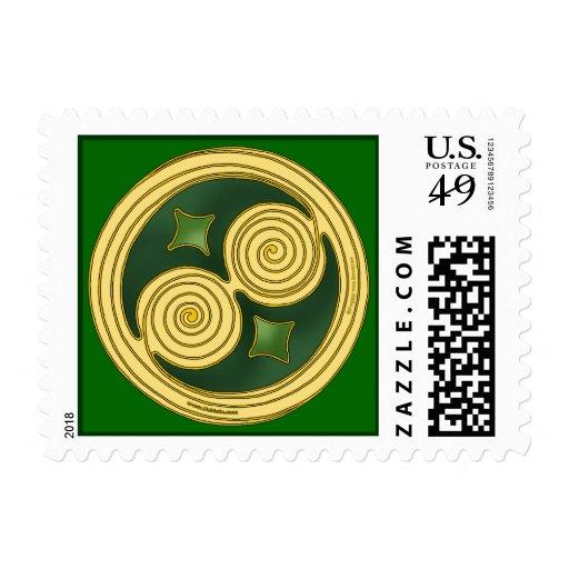 Irish St. Patrick's Day Medieval Spiral Stamp