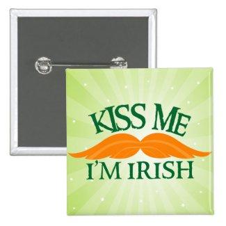 Irish-Stache Button