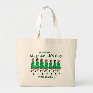 Irish Step Dance Celebrates St. Patrick's Day Jumbo Tote Bag