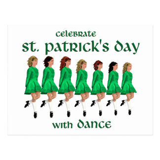 Irish Step Dance Celebrates St. Patrick's Day Postcard