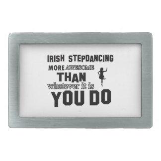 IRISH STEP DANCE DESIGNS BELT BUCKLE