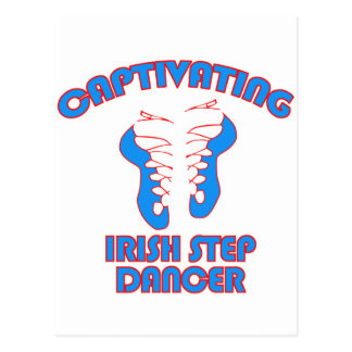 Irish step  DANCE DESIGNS Postcard