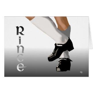 Irish Step Dance - Hard Shoe - Rince Card