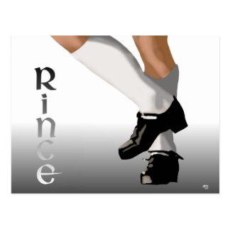 Irish Step Dance - Hard Shoe - Rince Postcard
