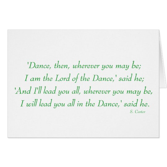 Irish Step Dance - Lord of the Dance Chorus Card