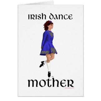 Irish Step Dance Mother - Blue Hard Shoe Card