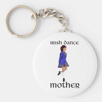 Irish Step Dance Mother - Blue Hard Shoe Keychain
