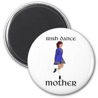 Irish Step Dance Mother - Blue Hard Shoe Refrigerator Magnets