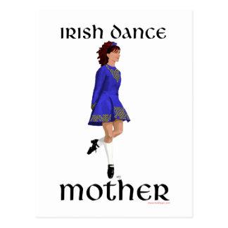 Irish Step Dance Mother - Blue Hard Shoe Postcard