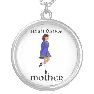 Irish Step Dance Mother - Blue Hard Shoe Silver Plated Necklace
