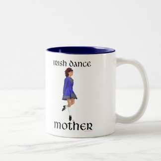Irish Step Dance Mother - Blue Hard Shoe Two-Tone Coffee Mug