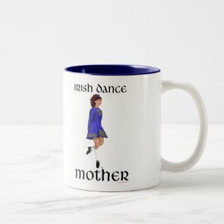 Irish Step Dance Mother - Blue Hard Shoe Two-Tone Coffee Mug