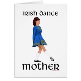 Irish Step Dance Mother - Blue Soft Shoe Card