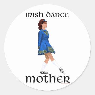 Irish Step Dance Mother - Blue Soft Shoe Classic Round Sticker