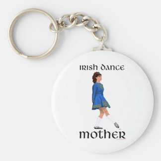 Irish Step Dance Mother - Blue Soft Shoe Keychain