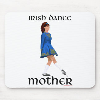 Irish Step Dance Mother - Blue Soft Shoe Mouse Pad
