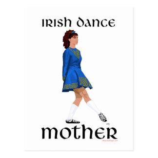 Irish Step Dance Mother - Blue Soft Shoe Postcard