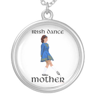 Irish Step Dance Mother - Blue Soft Shoe Silver Plated Necklace