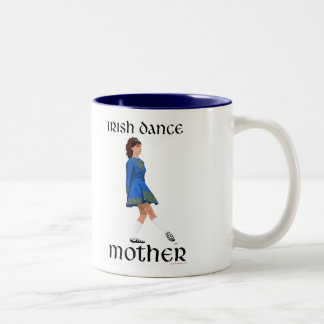 Irish Step Dance Mother - Blue Soft Shoe Two-Tone Coffee Mug
