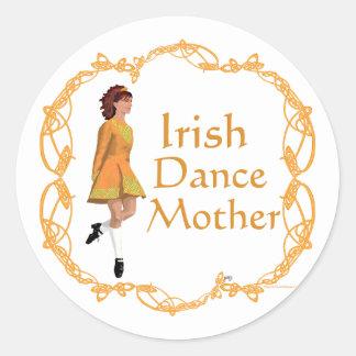 Irish Step Dance Mother - Gold Classic Round Sticker