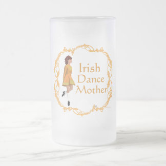 Irish Step Dance Mother - Gold Frosted Glass Beer Mug