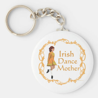 Irish Step Dance Mother - Gold Keychain