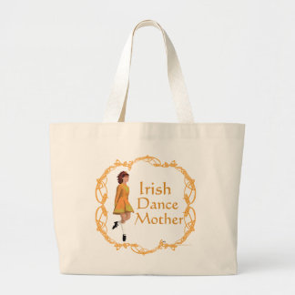 Irish Step Dance Mother - Gold Large Tote Bag