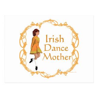 Irish Step Dance Mother - Gold Postcard
