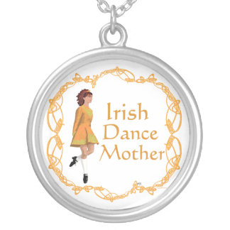 Irish Step Dance Mother - Gold Silver Plated Necklace