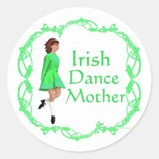 Irish Step Dance Mother - Green Classic Round Sticker