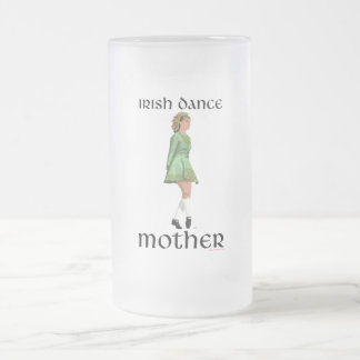 Irish Step Dance Mother - Green Frosted Glass Beer Mug