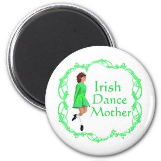Irish Step Dance Mother - Green Refrigerator Magnets