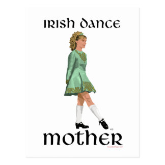 Irish Step Dance Mother - Green Post Cards