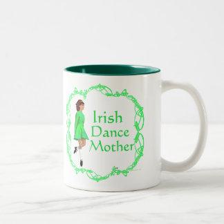 Irish Step Dance Mother - Green Two-Tone Coffee Mug