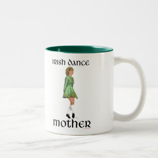 Irish Step Dance Mother - Green Two-Tone Coffee Mug