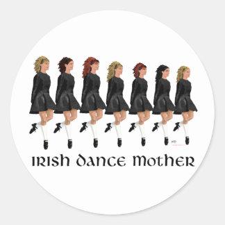 Irish Step Dance Mother - Line of Dancers Classic Round Sticker
