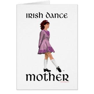 Irish Step Dance Mother - Mauve Greeting Cards