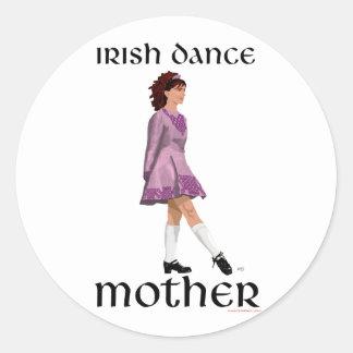 Irish Step Dance Mother - Mauve Classic Round Sticker