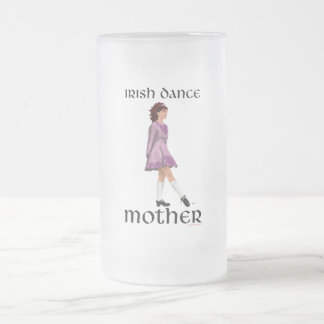 Irish Step Dance Mother - Mauve Frosted Glass Beer Mug