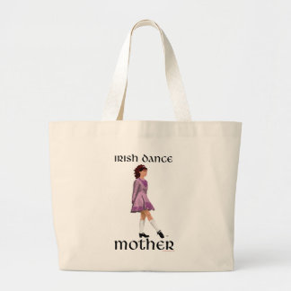 Irish Step Dance Mother - Mauve Large Tote Bag