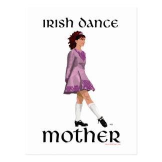 Irish Step Dance Mother - Mauve Postcard